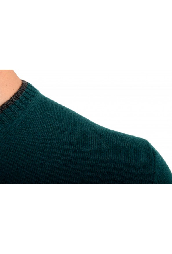 Moncler Men's Emerald Green 100% Wool Crewneck Sweater: Picture 4