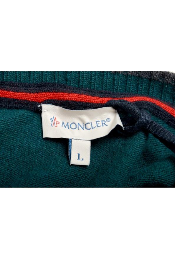 Moncler Men's Emerald Green 100% Wool Crewneck Sweater: Picture 5