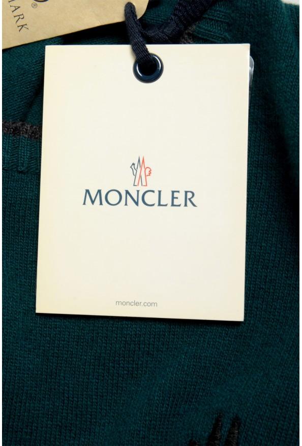 Moncler Men's Emerald Green 100% Wool Crewneck Sweater: Picture 6