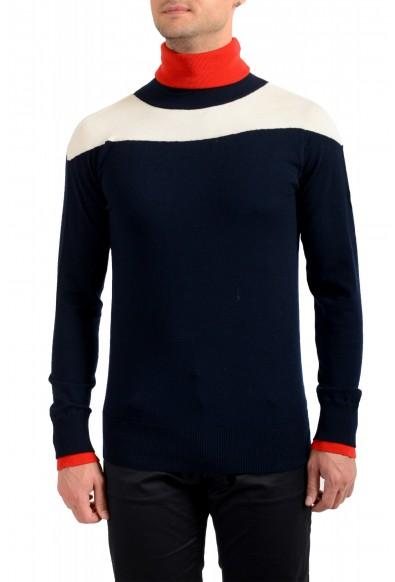 Moncler Men's Multi-Color Wool Turtleneck Pullover Sweater