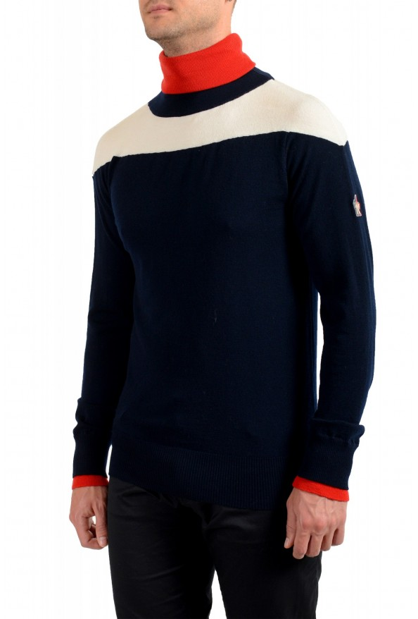 Moncler Men's Multi-Color Wool Turtleneck Pullover Sweater: Picture 3