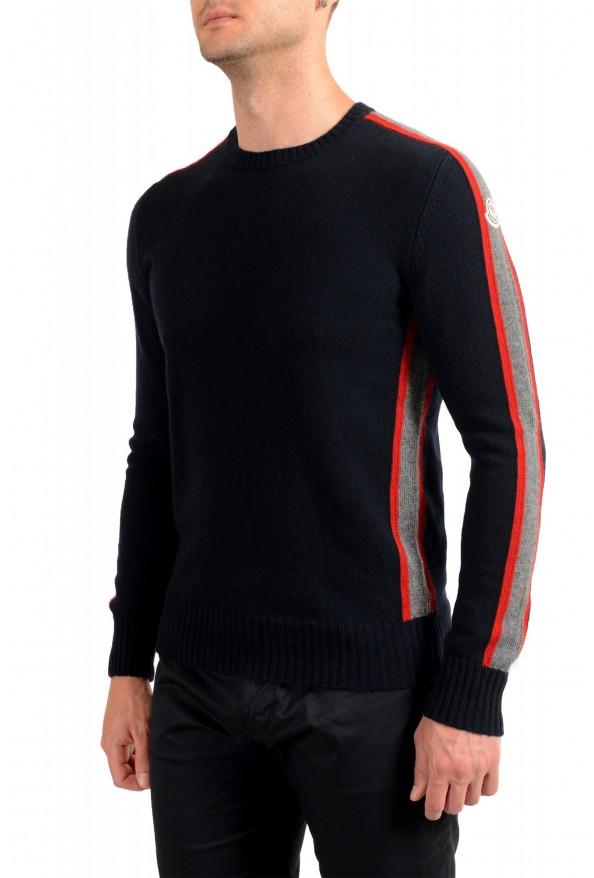 Moncler Men's Black 100% Wool Crewneck Sweater: Picture 4