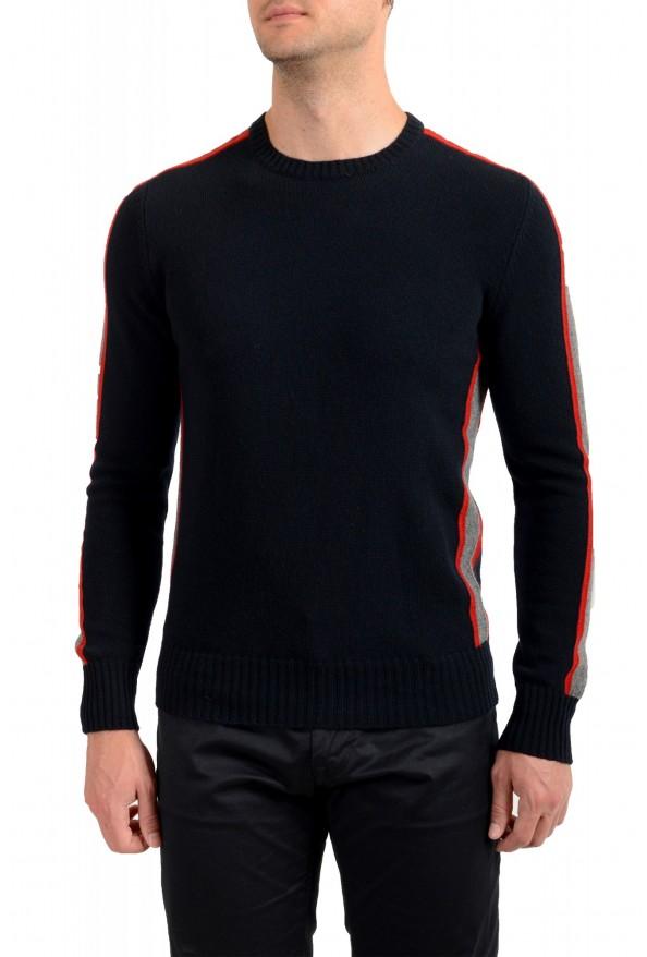 Moncler Men's Black 100% Wool Crewneck Sweater