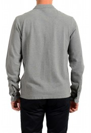 Moncler Men's Slim Fit Gray Long Sleeve Polo Shirt: Picture 3