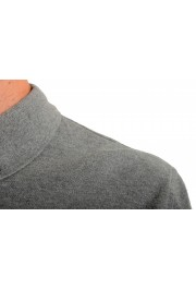 Moncler Men's Slim Fit Gray Long Sleeve Polo Shirt: Picture 4
