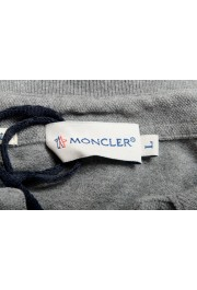 Moncler Men's Slim Fit Gray Long Sleeve Polo Shirt: Picture 5
