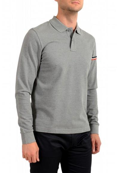 Moncler Men's Gray Long Sleeve Polo Shirt: Picture 2