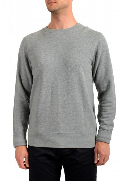 Moncler Men's Gray Wool Crewneck Sweatshirt