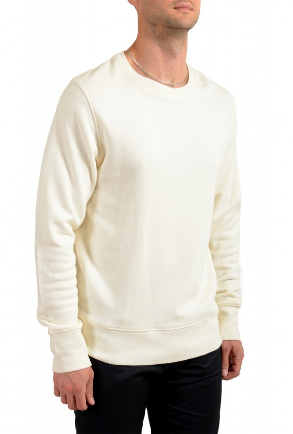 Moncler Men's Ivory Wool Crewneck Sweatshirt: Picture 2