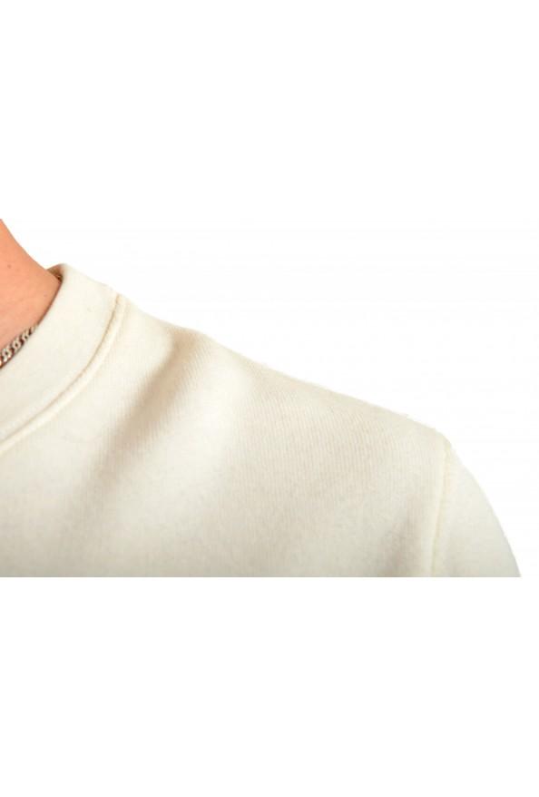 Moncler Men's Ivory Wool Crewneck Sweatshirt: Picture 4