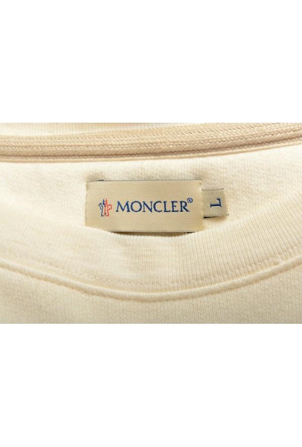 Moncler Men's Ivory Wool Crewneck Sweatshirt: Picture 5