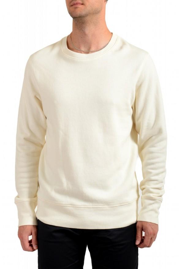 Moncler Men's Ivory Wool Crewneck Sweatshirt