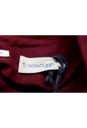 Moncler Men's Slim Fit Burgundy Long Sleeve Polo Shirt : Picture 5