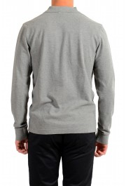 Moncler Men's Gray Slim Fit Long Sleeve Polo Shirt: Picture 3