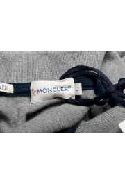 Moncler Men's Gray Slim Fit Long Sleeve Polo Shirt: Picture 5