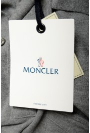 Moncler Men's Gray Slim Fit Long Sleeve Polo Shirt: Picture 6