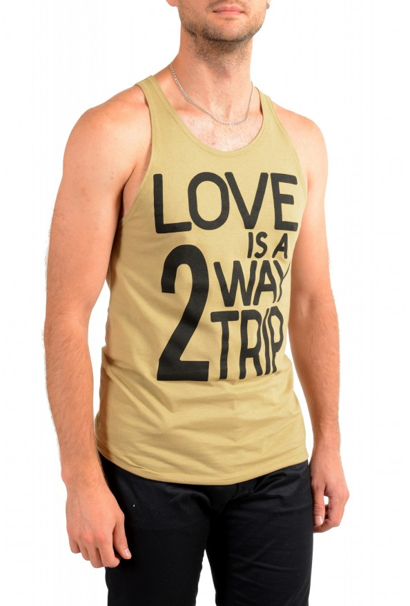 Dolce & Gabbana D&G Men's Graphic Print Olive Green Tank Top: Picture 2