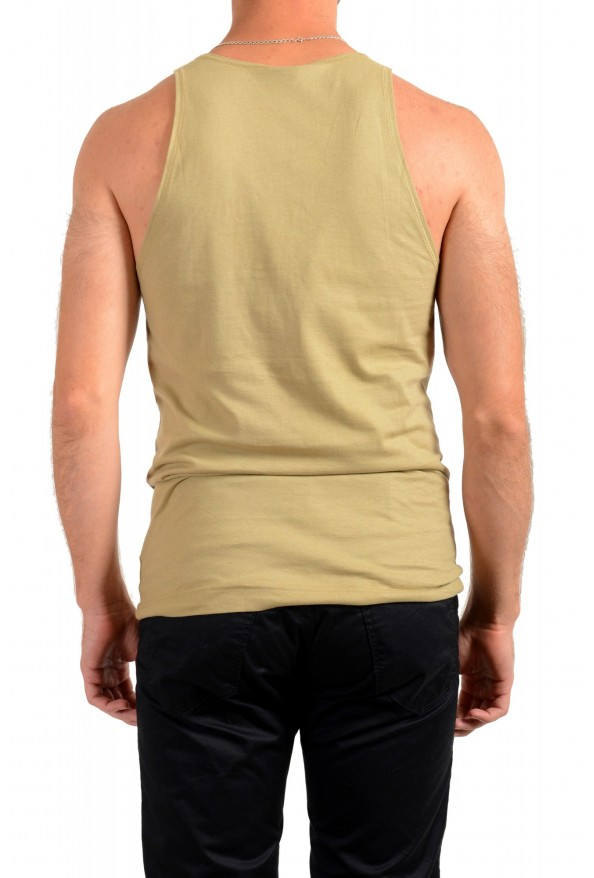 Dolce & Gabbana D&G Men's Graphic Print Olive Green Tank Top: Picture 3