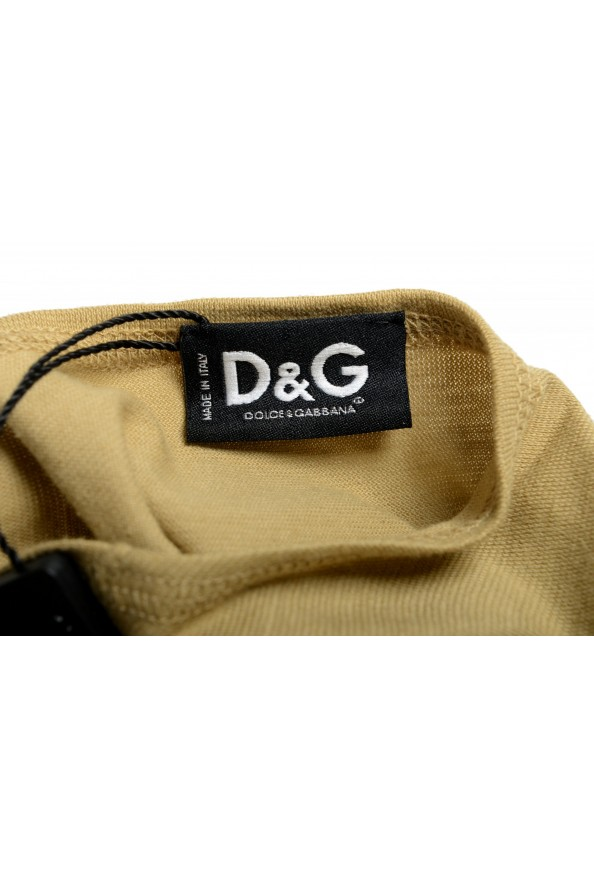 Dolce & Gabbana D&G Men's Graphic Print Olive Green Tank Top: Picture 4