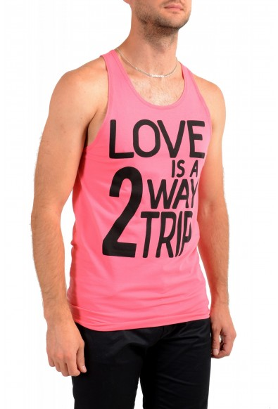 Dolce & Gabbana D&G Men's Graphic Print Bright Pink Tank Top: Picture 2
