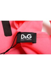 Dolce & Gabbana D&G Men's Graphic Print Bright Pink Tank Top: Picture 4
