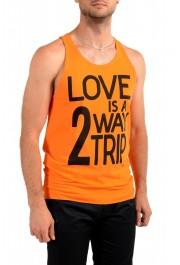 Dolce & Gabbana D&G Men's Graphic Print Orange Tank Top: Picture 2
