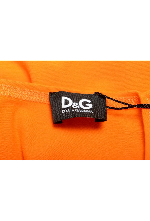 Dolce & Gabbana D&G Men's Graphic Print Orange Tank Top: Picture 4