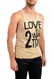 Dolce & Gabbana D&G Men's Graphic Print Beige Tank Top: Picture 2
