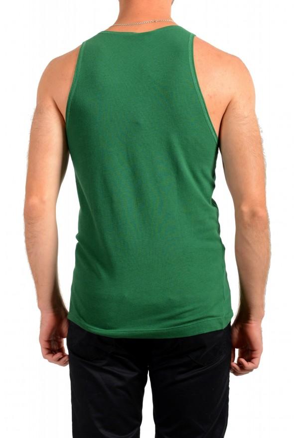 Dolce & Gabbana D&G Men's Graphic Print Emerald Green Tank Top: Picture 3