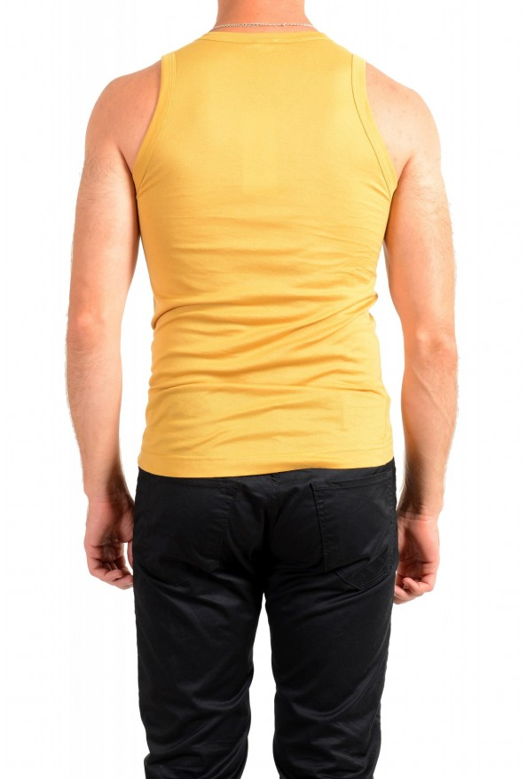 Dolce & Gabbana D&G Men's Graphic Print Mustard Yellow Tank Top: Picture 3
