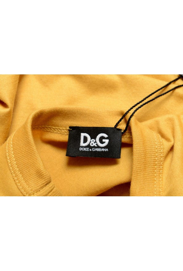 Dolce & Gabbana D&G Men's Graphic Print Mustard Yellow Tank Top: Picture 4
