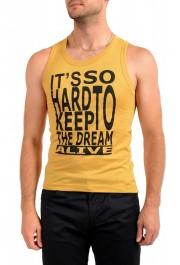Dolce & Gabbana D&G Men's Graphic Print Mustard Yellow Tank Top