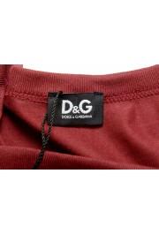 Dolce & Gabbana D&G Men's Graphic Print Burgundy Tank Top : Picture 4