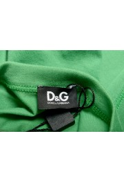 Dolce & Gabbana D&G Men's Graphic Print Bright Green Tank Top: Picture 4