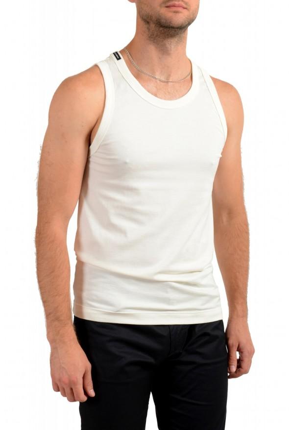 Dolce & Gabbana Men's Off White Tank Top: Picture 2