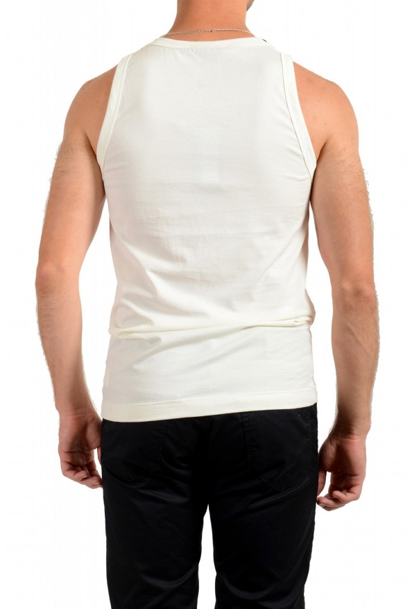 Dolce & Gabbana Men's Off White Tank Top: Picture 3