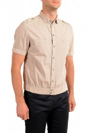 Dolce & Gabbana Men's Beige Button Down Short Sleeve Shirt: Picture 2