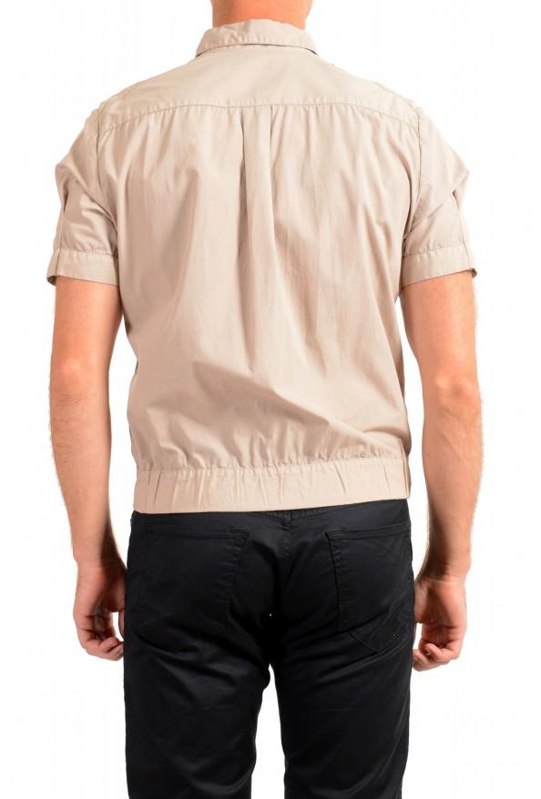 Dolce & Gabbana Men's Beige Button Down Short Sleeve Shirt: Picture 3