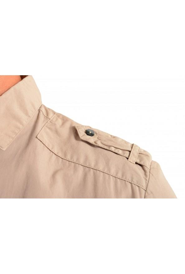 Dolce & Gabbana Men's Beige Button Down Short Sleeve Shirt: Picture 4