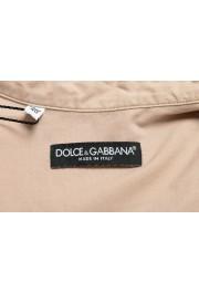 Dolce & Gabbana Men's Beige Button Down Short Sleeve Shirt: Picture 5