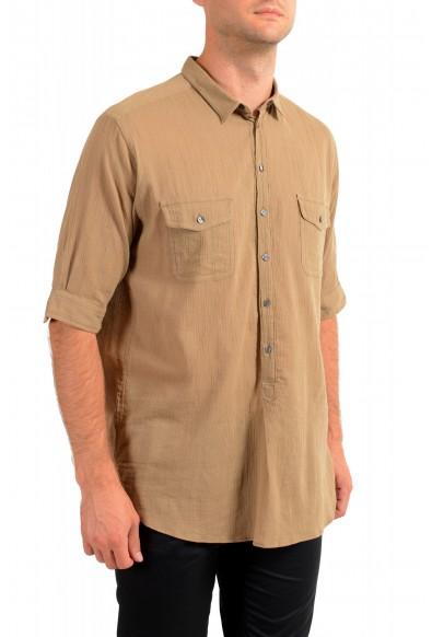 "Dolce & Gabbana ""Gold"" Men's Beige Short Sleeve Shirt: Picture 2"