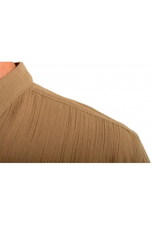 "Dolce & Gabbana ""Gold"" Men's Beige Short Sleeve Shirt: Picture 4"