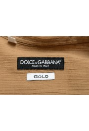 "Dolce & Gabbana ""Gold"" Men's Beige Short Sleeve Shirt: Picture 5"