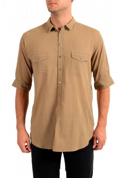 """Dolce & Gabbana """"Gold"""" Men's Beige Short Sleeve Shirt"""