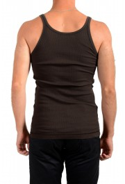 Dolce & Gabbana Men's Brown Ribbed Tank Top: Picture 3
