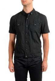 Dolce & Gabbana Men's Black Button Down Short Sleeve Shirt