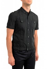 Dolce & Gabbana Men's Black Button Down Short Sleeve Shirt: Picture 2
