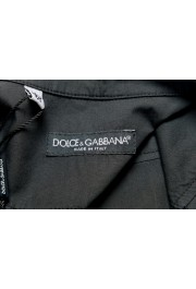 Dolce & Gabbana Men's Black Button Down Short Sleeve Shirt: Picture 5