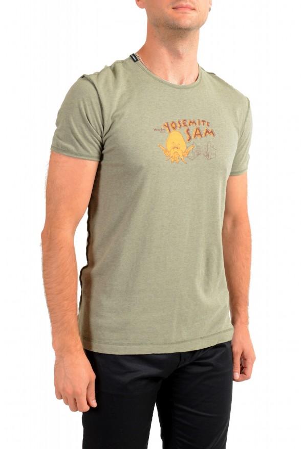 Dolce & Gabbana Men's Green Graphic Print Crewneck T-Shirt: Picture 2