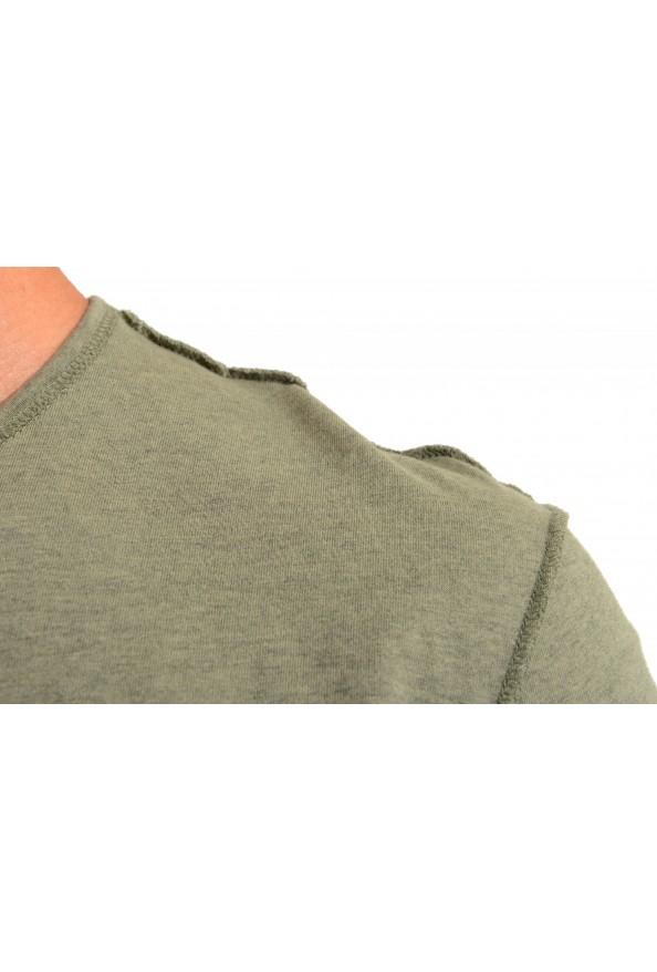 Dolce & Gabbana Men's Green Graphic Print Crewneck T-Shirt: Picture 4